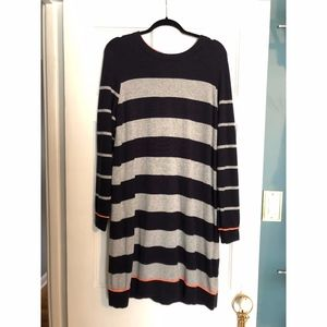eliza j | contrast stripe sweater dress